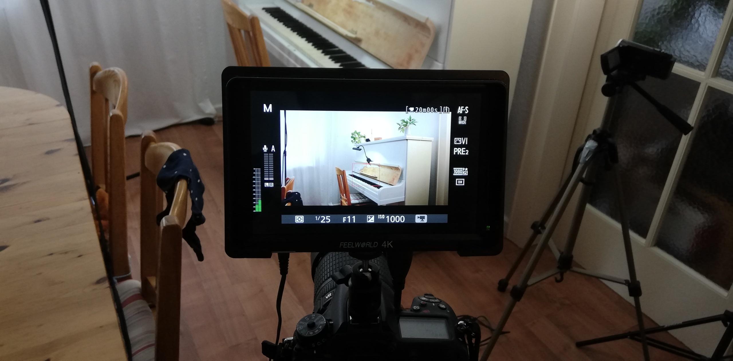 Aufnahmen für das Master-Video